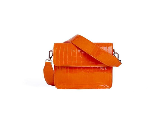 Cayman Shiny Strap Bag Orange