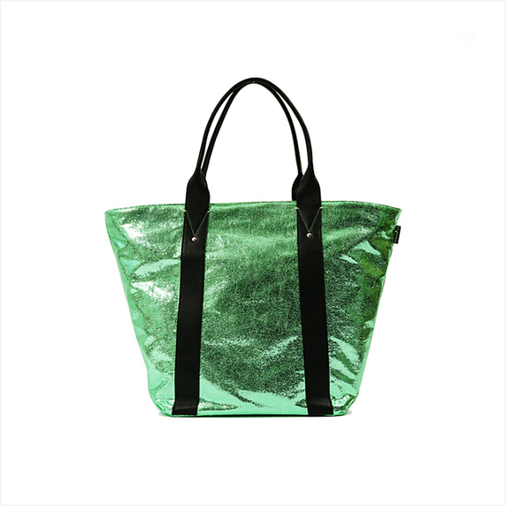 Tote bag zip M - diabolo mint 40%SALE