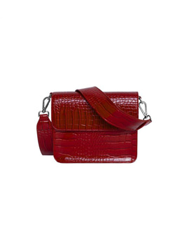 Cayman Shiny Strap Bag Wine Red