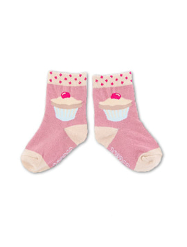 Cupcake Baby Socks - CANDY PINK색상