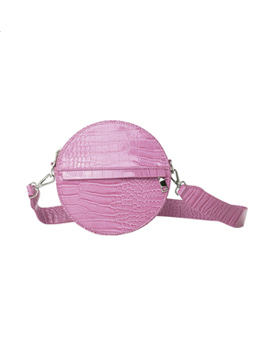 Hvisk Cayman Circle Bag pastel purple 스트랩크로스백