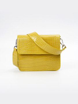 Hvisk Cayman Shiny Strap Bag chartreuse yellow 스트랩크로스백