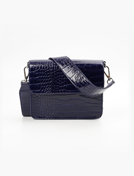 Hvisk Cayman Shiny Strap Midnight Blue 스트랩크로스백