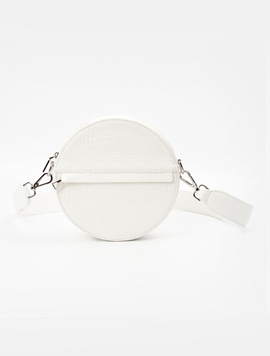 Hvisk Cayman Circle Bag White 스트랩크로스백