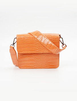 Hvisk Cayman Shiny Strap Bag Pastel orange 스트랩크로스백