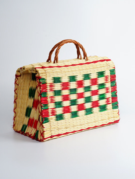 Portugal reed bag - medium size 라탄백