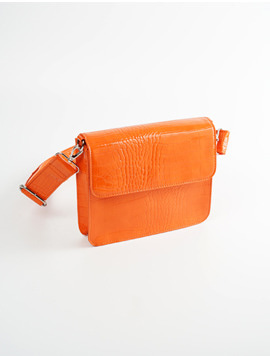 Hvisk Cayman Shiny Strap Orange 스트랩크로스백