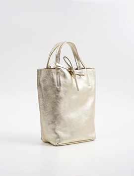 Light gold shopper bag S
