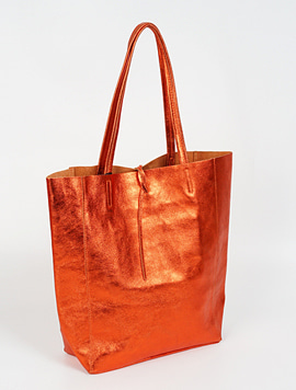 Orange shopper bag - Large