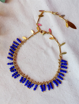 Cobalt blue beads 팔찌