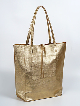 Gold shopper bag - Large