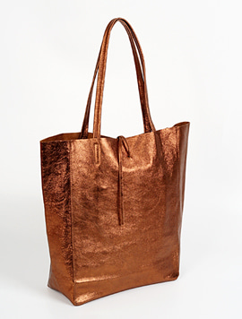 Bronze shopper bag - Large
