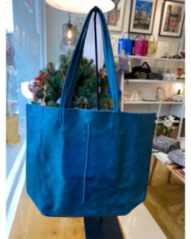Blue green shopper bag - Large