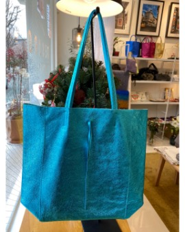 Sky blue shopper bag - Large