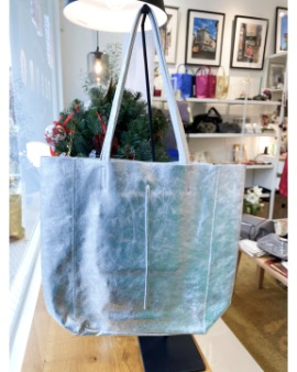 Silver shopper bag - Large