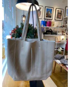 Mink beige shopper bag - Large