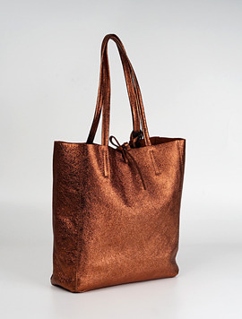 Bronzo shopper bag M