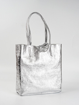 Light Silver shopper bag M